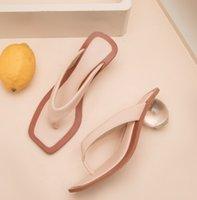Sandalen PenSamilo Plus Größe 35-42 Quadratische Zehe Frauen Hausschuhe Mode Kristallkugel HEELED Flip Flops Sommer High Heels Outdoor-Folien