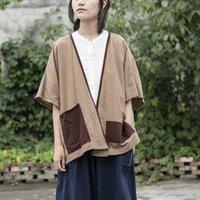 Women's Jackets Kimonos Woman Tops 2021 Japanese Plus Size Cardigan Cotton Linen Shirt Blouse For Women Vintage Yukata Loose Female Kimono C