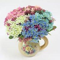 Simulación de flone europeo gypsophila flor ramo pequeño margarita baile seda flores decoración arreglo de boda decorativos guirnaldas
