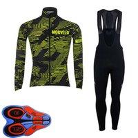 Hommes Vélo Jersey Morvelo Team Set automne sèche rapide à manches longues à manches longues VTT chemise de vélos de berceau costume costume vélo vêtements de course y112803