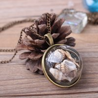 necklace shell beach style X600 fashionable conch Starfish Nelace long ocean element glass cover Pendant