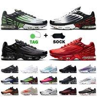 De gros de chaussures Nike Air Max Plus 3 Tuned Air Tn Plus 3 AirMax Tn 3 Chaussures de course pour hommes Chaussures pour femmes Laser Blue OG Black Red Baskets Hommes