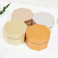 3pcs set Different Sizes Octagon Gift Paper Box Baby Shower Birthday Wedding Party Wrapping Boxes Candy Chocolate Wrap