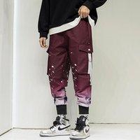 Men's Pants Men Jogger Casual Fit Streetwear 2021 Elastic Waist Fashion Printed Tactical Cargo Pant Trousers