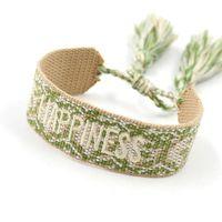 Charm Bracelets Jewelry Vintage Braided Tassel Embroidery Bracelet, Bohemian Ethnic Friendship Hand Rope Bracelet