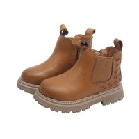 Baby Boots Kids Shoes Childrens Girls Boys Footwear Autumn Winte Cowhide Woven Student Moccasins Soft Short Boot B8163