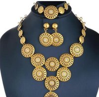 New Arrival Women Jewelry Set 2018 Gold Color Nigerian Wedding African Beads Jewelry Set Womens Fashion