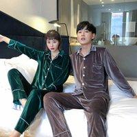 Pajamas For Men Winter Velvet Warm Luxury Couple Pyjamas Home Clothes Suit Pijama Women Men Christmas Large size Pajama Sets 211014