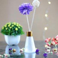Konische Aromatherapie-Glasflaschen 30ml 60ml Duft-Volattier-Gläser-Container Rattan Reed Diffusor Auto Parfüm-Flasche RRD7540