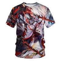 Yaz Moda Erkek T-shirt 3D Inuyasha Baskılı Rahat T-shirt Erkek Yakışıklı Giyim Asya Boyutu S-6XL T Shirt Erkekler için