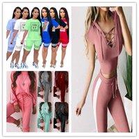 Kravat Eşofman Kapşonlu Yan Çizgili Ince Bayanlar Spor Takım Elbise Skinny Aktif Panelli Kızlar 2 adet Pantolon Bayan Tasarımcı Katı