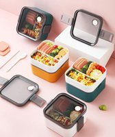 Yalıtımlı Öğle Yemeği Kutusu Öğrenci Okul Sofra Bento Konteyner Depolama Kahvaltı Kutuları Mikrodalga Yapılabilir Yemek Takımları