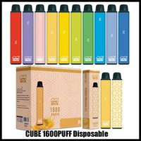 Original Vapen Cube 1600 퍼프 일회용 vape 펜 키트 650mAh 배터리 5.5ml 용량 전자 담배 휴대용 기화기 미리 채워진 막대 증기 Bang XXL 에어 바 최대