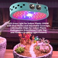 2021 Mini Led Grow Light COB Adjustable 1100W Full Spectrum Tent Covered Green houses Lamp Plant for Veg Flowering Aluminium DHL