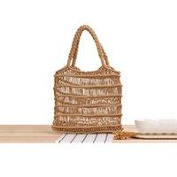 Evening Bags Woven Shoulder Bag For Women Hollow Handbag Cotton Rope Net Straw Handmade Beach Pack Lady Beige Package Luxury