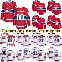 Personalizzato Montreal Canadiens Jerseys Hockey 14 Nick Suzuki 31 Carey Prezzo 11 Brendan Gallagher 6 Shea Weber Qualsiasi nome e numero