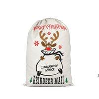 크리스마스 선물 가방 Santas Xmas Sacks Reindeers 인쇄 어린이 사탕 가방 Drawstring Sack Totes 파우치 크리스마스 축제 48 * 64cm HWE9575