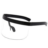 High Quality 165mm Shad Oversized Shield Visor Glass Flat Top Hood Sunglass