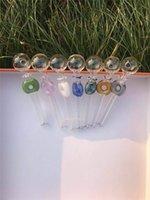 Pyrex Glass Huile Brûleuse Tuyaux de tube à la main Tube à la main Handraft 4.7inch Style coloré Style Dot Encens