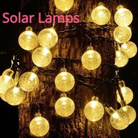 Solar Lamps 50 LEDs Crystal Ball Led Light Outdoor IP65 Waterproof String Fairy Garden Garlands Christmas Decoration