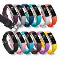 Fitbit Alta HR 손목 스트랩 팔찌 시계 교체 용품을위한 고품질 소프트 실리콘 안전 조정 가능한 밴드