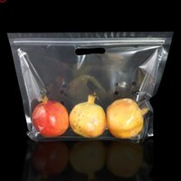 Eco Clear Plastic PP-Beutel Obst ZIPLOCK-Hänge-Loch-Ständer-Taschen wiederverwendbare Küchenpolypropylen-Speicherung mit Gasloch-Hoher Menge