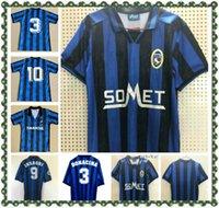 1996 1997 Atalanta Bergamasca Retro Soccer Jersey 96 97 Filippo Inzaghi Bonacina SGRRO MORFEO Camicia da calcio classica vintage