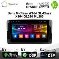 6 + 128G Ownice Android 10.0 Car DVD player para - M-Classe W164 GL-Class X164 GL320 ML280 GPS Rádio 8 Core SPDIF 4G LTE
