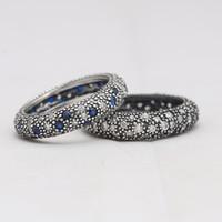 Anéis genuínos 925 Inspiração de prata esterlina dentro de anel CZ compatível com joias europeias