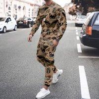 Erkek Eşofman Marka Tasarımcısı Kelebek Nakış Baskılı Moda Rahat Gevşek Uzun Kollu İki Parçalı Suit Ile Pantolon Set Kıyafetler Sweatsuits Koşu Sportwear