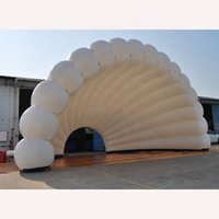 Tienda inflable gigante atractiva de 6 / 8m de ancho de 6/8m de ancho con LED y soplador para fiestas o eventos al aire libre
