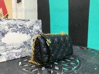 30 Montaigne Caro Bag Oblique Canage Calfskin Mini Bolsa Woc Crossbody Bolsa Senhora Itália Designer Flap Flap De Bolsa De Bolsa Em Cadeia Bordado Bordado