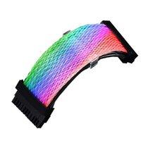 Rainbow Cable 24pin przedłużacza Neon Line z synchronizacji dla statywów dekoracyjnych PC