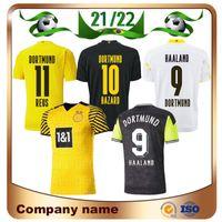 21 22 Dortmund Borussia # 11 Reus 축구 저지 2021 홈 M.Gotze Sancho Haaland 4th Shirt 100 위험 축구 유니폼
