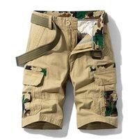Baumwoll-Tarnung Cargo Shorts Männer 2021 Mens Casual männlich lose Arbeit Militärische kurze Hosen plus Größe 28-38