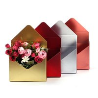 Gift Wrap 4 Colors Empty Folding Envelope Flower Bouquet Packing Boxes Paper Hand Holder Bags Party Decoration