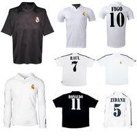 2001 2002 2003 Hundertjähriges Home Soccer Jersey Real Madrid Zidane Figo Hallro Ronaldo Raul Classic Retro Vintage Football Shirt