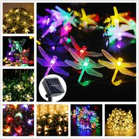 Solar Lamps Led Light Outdoor Lights String Dragonfly Bee Garland Waterproof Lamp For Garden Decoration