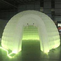 5m diâmetro LED luz inflável Igloo Luna Barraca, Bar Dome Marquee, Lâmpada Balão de Construção de Telhado para Reino Unido Exposição