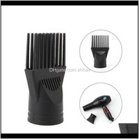 Brushes Care & Tools Products Drop Delivery 2021 1Pc High Quality Professional Salon Black Hair Dryer Blower Comb Concentrator Nozzle Beauty