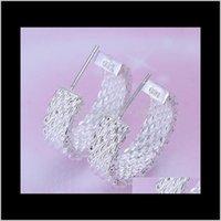 Бренд стерлинговые серебристые ретикулоциты Серьги DFMSE082, женщин 925 серебряный серебряная люстра EARR EARR QYLSTR NEW_DHBEST