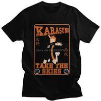 Erkek T-Shirt Haikyuu Karasuno T Gömlek Erkekler Yumuşak Pamuk Grafik T-shirt Kısa Kollu Kuroo Anime Bokuto Oya Manga Shoyo Voleybol Tee Tops