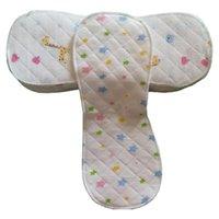 Couches de tissu 5pcs Mises à niveau Réutilisable Baby Inserts 3 Couches 6 Nappies lavables Doublures 100% coton Nappy pour la couche de poche