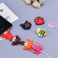 New Data Line Protector Bite Cartoon Winder Cable Insects Animals Bites Protectors for USB Cables Phone Accessory Insect Cute Designs