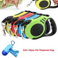 Dog Collars & Leashes Durable Leash Automatic Retractable Nylon Cat Lead Extending Puppy Walking Running Roulette For Dogs