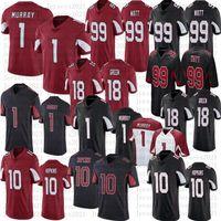 1 Kyler Murray Men Football Jerseys 10 Deandre Hopkins 99 J.J. وات 18 AJ الأخضر جودة عالية مخيط جيرسي