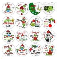 DHL Fast Grinch Quarantäne Weihnachtsverzierung Weihnachten Hängende Ornamente Personifizieren Sie für Baumdekor Tragende Maske Designer 2021 an meine Tochter CS06