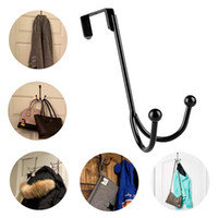 Hangers & Racks Metal Twin Hold Up To 5 Lbs Hooks Organizer For Hanging Coats, Hats, Robes, Towels- Silver Rack Hook Modern Black Hanger
