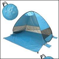 텐트 피난처와 스포츠 옥외용 낚시 캠을위한 접이식 해변 텐트를 캠프를 하이킹 피크닉 인스턴트 오픈 가족 관광 야외 태양 그늘