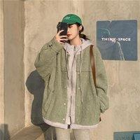 Women's Wool & Blends Versatile Fake Two Piece Splicing Long Sleeve Lamb Coat 2021 Winter Women Cloth Sacos De Mujer Vestir Abrigo